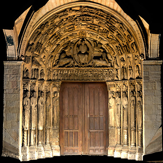 a 3d model that came from a 3d scan with the texture. This is a portion of Mans Cathedral in France